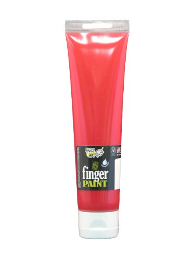 Handy Art by Rock Paint 248-020 Washable Finger Paint, 1, Red, 5-Ounce - 1