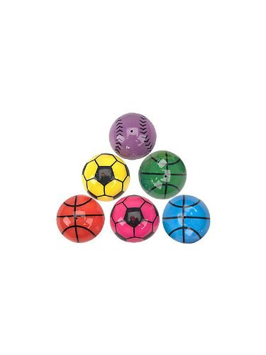 "Fun Express - SPORTS POPPERS (2 DOZEN) - BULK, Size: 1.25"", Assorted Colors"