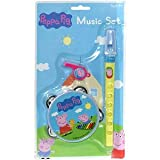 PEPPA PIG MUSIC SET MUSIC RECORDER WHISTLE TAMBOURINE TOY FOR KIDS AGE 3+ NEW