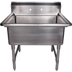 Utility Sink Stainless Steel Freestanding : ... kitchen bath fixtures laundry utility fixtures laundry utility sinks