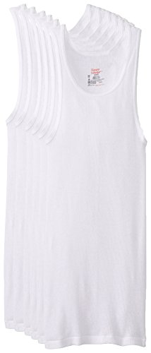 Hanes Men's FreshIQ TAGLESS ComfortSoft White A-Shirt 6-Pack, White, Large (Top Men compare prices)