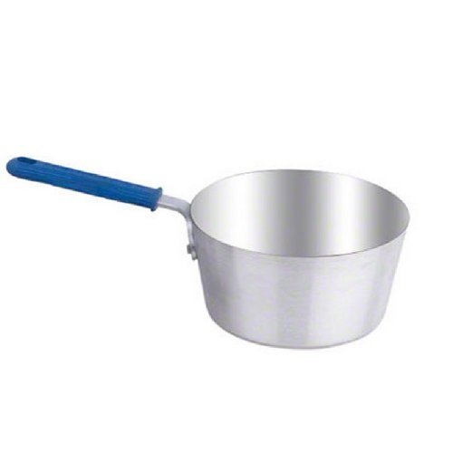 Vollrath 4347 11-Gauge Aluminum Wear-Ever Tapered Sauce Pan With Cool Handle, Natural Finish, 7-Quart