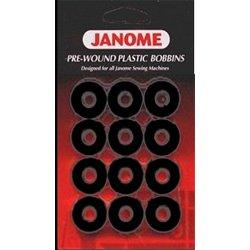 Janome Pre-wound Plastic Bobbins - Black (Prewound Bobbins Janome compare prices)