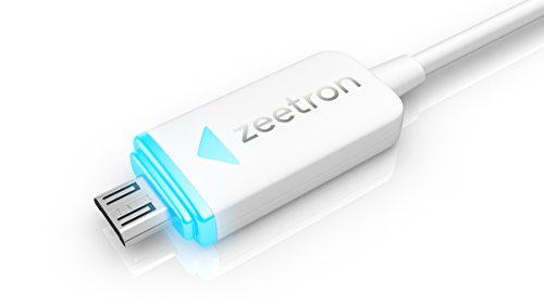 Zeetron Led Light Up Charge Sync Cable For Micro Devices (Samsung, Htc, Lg, Nokia, Blackberry, Blu) - Retail Packaging (Micro)