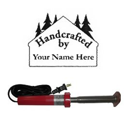 "Branding Iron - Electric Unit Bn-51U Personalized ""Handcrafted By..."" Cabin N' Trees Design"