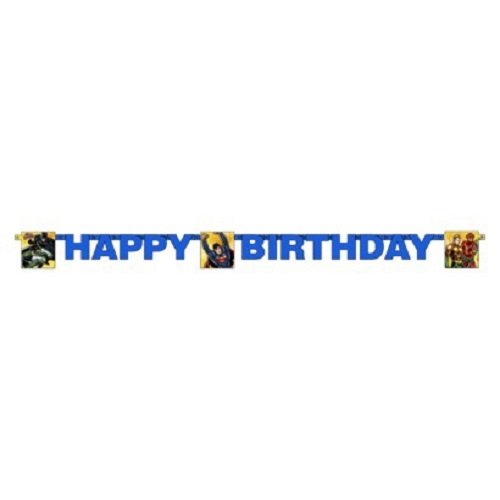 DC Comics Justice League Rescue 6' Jointed Birthday Banner
