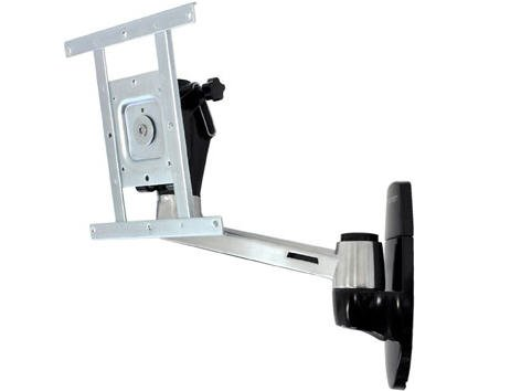 ERGOTRON LX HD WALL MOUNT SWING ARM POLISHED ALUMINUM Embedded CF Technology Rock-Solid New