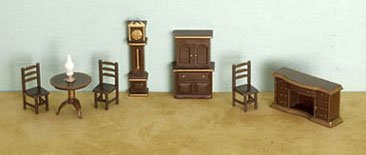"Dollhouse 1/4"" 8 Piece Dining Room Set - 1"