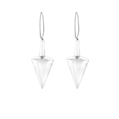 Cone Shape Silver Earring