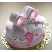 シュガークラフトケーキ おめでたいを結んだケーキ