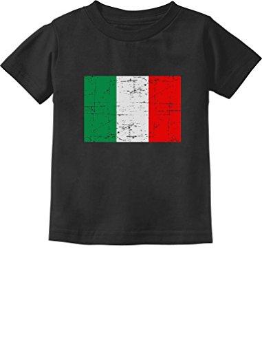 TeeStars - Italy Flag Vintage Style Retro Italian Toddler/Infant Kids T-Shirt 5/6 Black (Italian Baby Soccer compare prices)