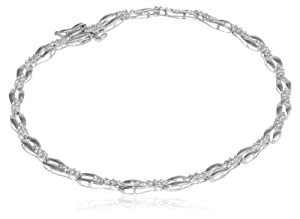 "Sterling Silver Diamond Accent Bracelet, 7.25"" from Amazon Curated Collection"