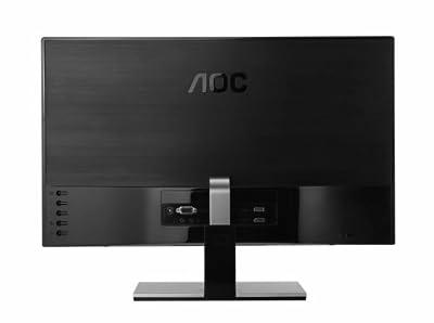 AOC i2367Fh 23-Inch IPS Frameless LED-Lit Monitor, Full HD 1080p, 5ms, 50M:1 DCR, VGA/ HDMI, Speakers, Multi Purpose Stand