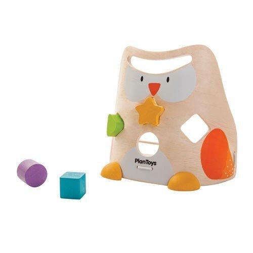Plan Toys Owl Shape Sorter - 1