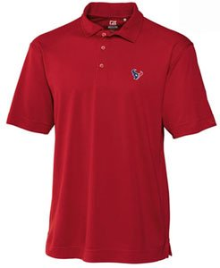 Houston Texans Mens Drytec Genre Polo Cardinal Red by Cutter & Buck