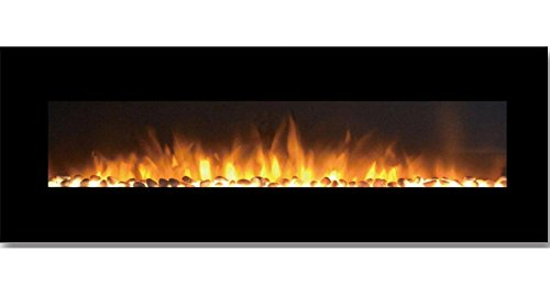 Gibson Living GL5072PF Savannah 72 Inch Pebble Linear Derange Mounted Electric Fireplace