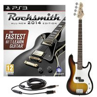 rocksmith-2014-ps3-and-la-bass-guitar-by-gear4music-sunburst