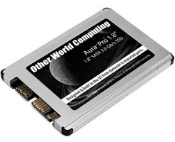 """480GB OWC Aura Pro Serial-ATA 1.8"""" Solid-State Drive For Special Applications, netbooks & subnotebooks That Utilize a 1.8"""" SATA Hard Drive. High Performance Internal MLC Flash Storage With 7% over Provisioned Redundancy. Model OWCSSDAP81480"""
