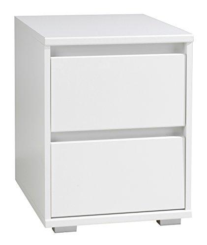 Nachtkommode-Nachttisch-IDOLA-5-wei-hochglanz-2-Schubksten-40x55-cm