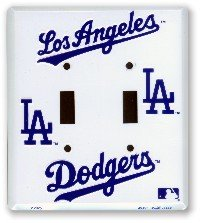 Los Angeles Dodgers double light switch plate at Amazon.com