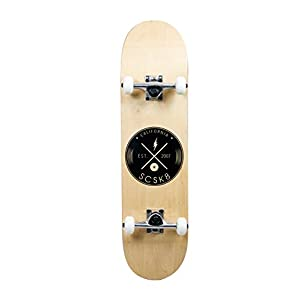 SCSK8 Pro Skateboard Complete Pre-Assembled Graphic / Natural Complete (The Natural)