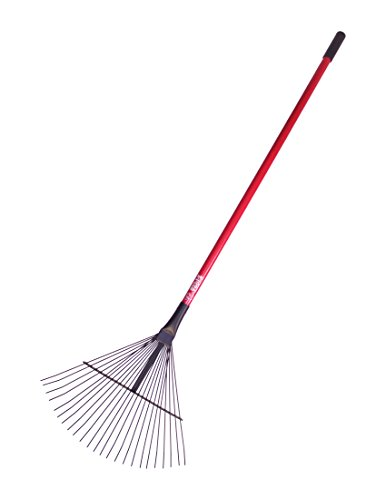 Bully tools 92312 leaf and thatching rake with fiberglass for Heavy duty garden rake