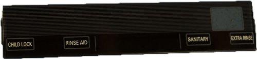 LG Electronics 3790ED3007R Dishwasher Control Panel Window Insert, Black at Sears.com
