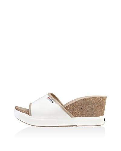 Superga Sandalo Zeppa [Bianco]