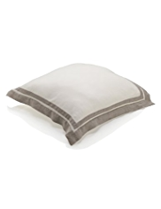 Pure Linen Border Striped Cushion