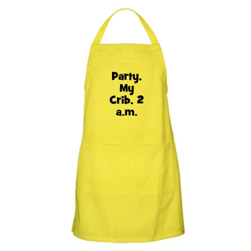 Cafepress Party, My Crib, 2 A.M. Bbq Apron - Standard