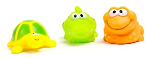 Vital Baby Play 'n' Splash Jungle Critter Friends, Set of 3