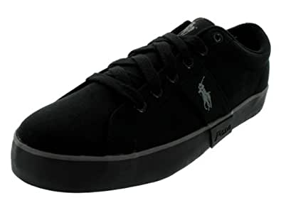 Polo Ralph Lauren Men's POLO RALPH LAUREN GILES CASUAL SHOES 9.5 (BLACK/BLACK/CH)