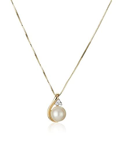 United Pearl Halskette gelbgold