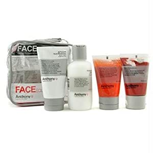 Logistics For Men Face Kit: Cleanser + Scrub + Cleansing Clay + Moisturizer + Bag - Anthony - Logistics For Men - Travel Set - 4pcs+1bag by StrawberryNet