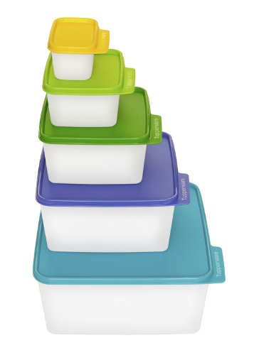 About Prices Of Tupperware Keep Tabs Square Kitchen Storage Containers Set Of 5 Sizes Weepohxi