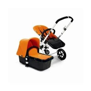 Bugaboo Cameleon Stroller - Dark Grey Base/Orange Canvas Tailored Fabric Set $799
