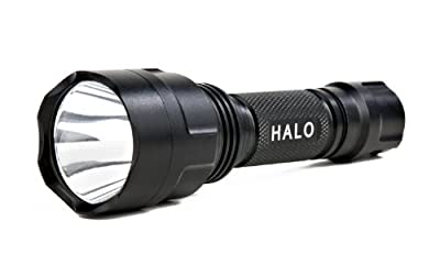 Guard Dog Security Halo, 290 Lumen Waterproof Tactical Flashlight with 5 Functions, Rechargeable by Guard Dog Security