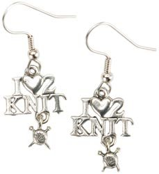 Cedar Creek Quilt Designs 86207 Charming Accents French Wire Earrings-I - Heart - 2 Knit by Cedar Creek