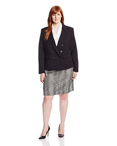 Anne Klein Plus Women's Blazer with Side Zippers
