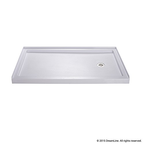 Best Review Of DreamLine SlimLine 36 in. x 60 in. Single Threshold Shower Base, Right Hand Drain, DL...