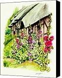 Anne Hathaway Cottage Canvas Print / Canvas Art - Artist Morgan Fitzsimons