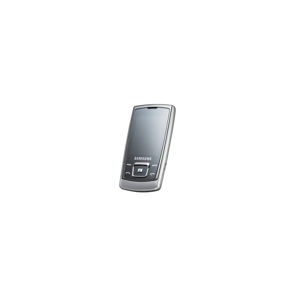 Samsung E840 Unlocked Cell Phone with 2 MP Camera, /Video Player, MicroSD Slot  International Version with No Warranty (Ice Silver)