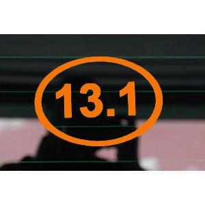 13 1 half marathon outline euro oval 5 color for 13 1 window sticker