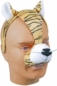 Child's and Adult's Tiger Face Costume Headpiece
