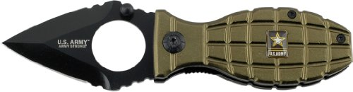U.S. ARMY A-A1001GN Folding Knife, 3.5-Inch, Black