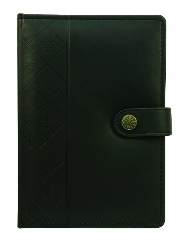 Markings by C.R. Gibson Debossed Italian Leatherette Journal - Black (MJ16-6120) (Italian Leather Journal Cover compare prices)