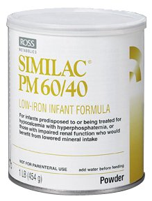 Similac PM 60/40 Low Iron Infant Formula, Powder, 14.1-Ounces (Pack of 6)