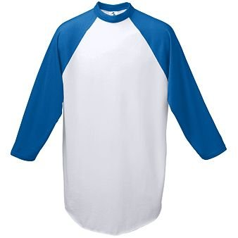 Adult Baseball Jersey - White and ROYAL - MEDIUM