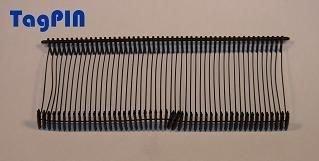 Kunststofffäden standard tagPin 10.000 fils de reliure 40 mm (noir)