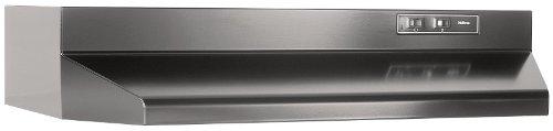 Broan Broan F402423 Convertible Range Hood, Black, 24-Inch Black front-455388